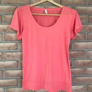 Fossil size S short sleeved, coral top